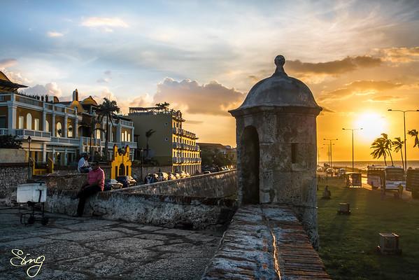 Sunset Cartagena, Colombia