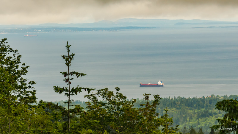 Vancouver Island across the Straights