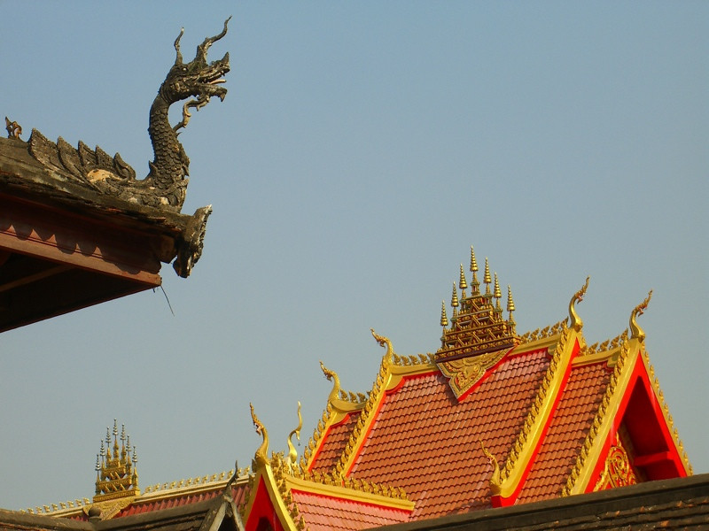 Dragons and Temple Rooftops - Vientiane, Laos