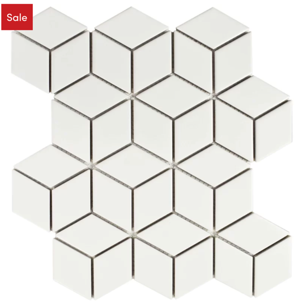 Rhombus tile for backsplash