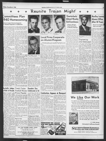 Daily Trojan, Vol. 32, No. 57, December 06, 1940