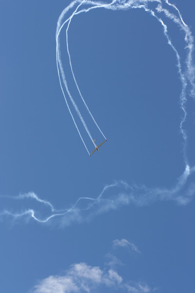 Sailplane aerobatics.  This was choreographed to music.