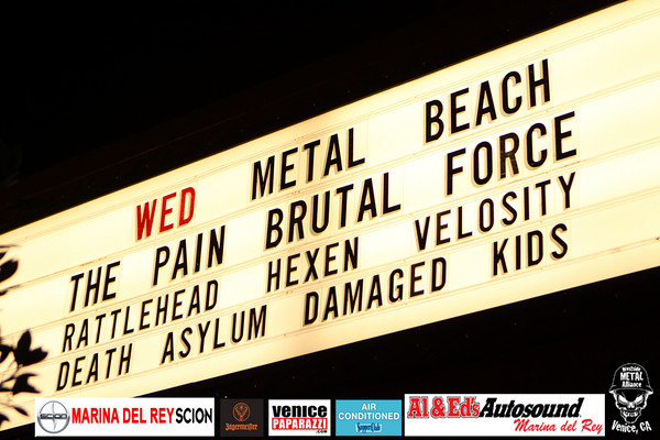Velocity, Death Asylum, Rattlehead, Brutal Force, The Pain, Hexen and Damaged Kids.