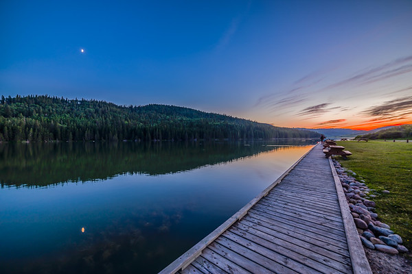 Reesor Lake Moon HDR