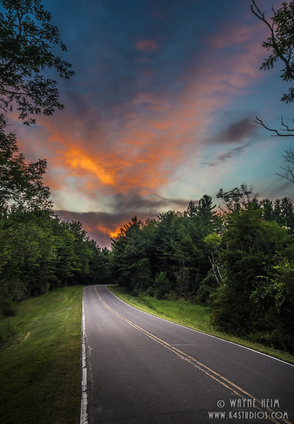 Sunset Road   Photography by Wayne Heim
