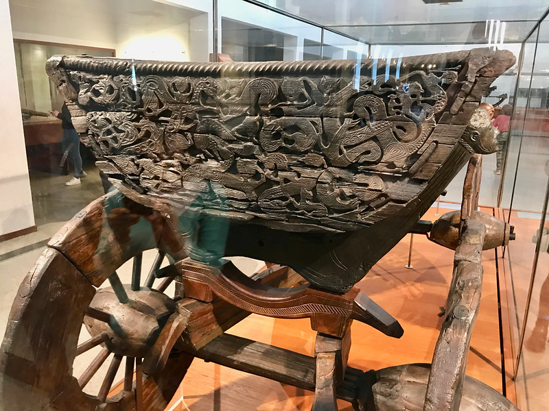 Wooden cart from the Oseberg Ship