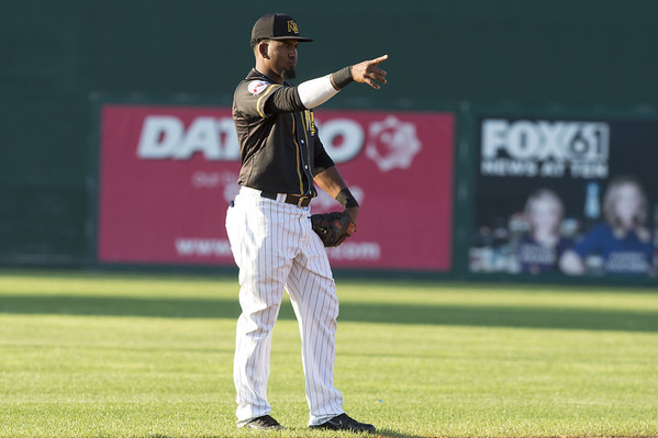 The New Britain Bees vs the Sugar Land Skeeters at New Britain Stadium on Friday July 5, 2019. Rando Moreno (4). | Wesley Bunnell | Staff