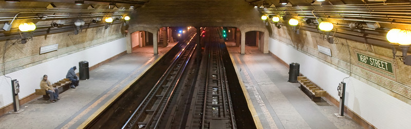 This is a 32 Mega Pixel image of the A train subway line @ 168th street.  This is located in new york and opened 	on March 16, 1906.