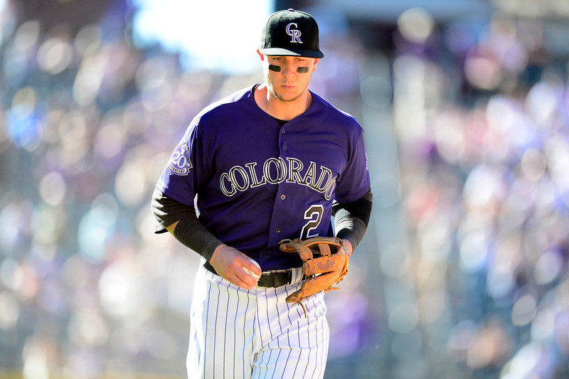 . DENVER, CO - JUNE 9: Colorado Rockies shortstop Troy Tulowitzki (2) runs off the field in the middle of the 10th during the Rockies\' 8-7 10-inning win in Denver. The Colorado Rockies hosted the San Diego Padres. (Photo by AAron Ontiveroz/The Denver Post)