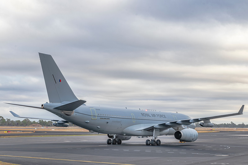 Royal Air Force Airbus KC2 Voyager A330-243MRTT ZZ338 Rockhampton Airport; RAF;
