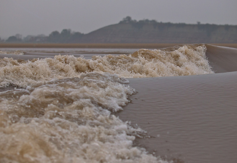 Pure natural Severn Bore.