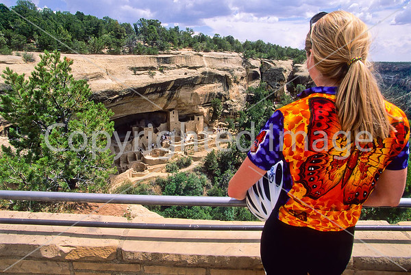 Colorado - Cyclist at Mesa Verde National Park
