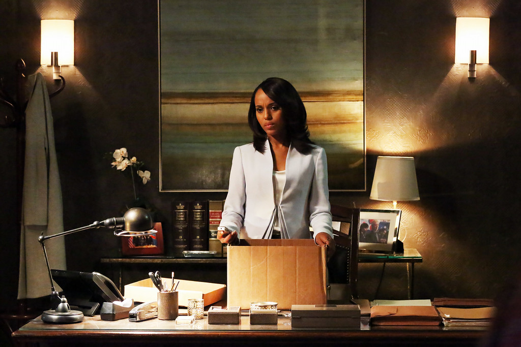 """. This undated publicity photo released by ABC shows Kerry Washington as Olivia Pope in a scene from \""""Scandal.\""""  Washington was nominated for an Emmy Award for best actress in a drama series on, Thursday July 10, 2014. The 66th Primetime Emmy Awards will be presented Aug. 25 at the Nokia Theatre in Los Angeles. (AP Photo/ABC, Richard Cartwright)"""