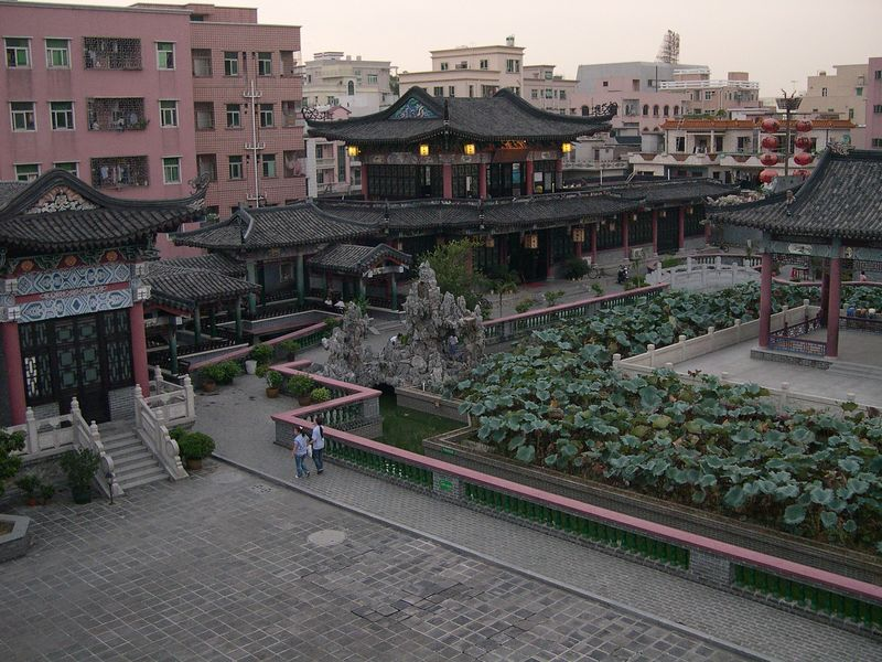 A peaceful garden amidst the chaos of FuYong