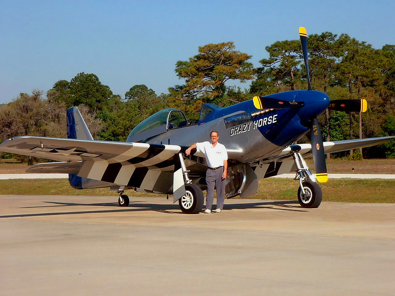 The throaty, turbine-like roar of the P-51's 1750 HP engine must be the sweetest sound in aviation. In 2004 I flew this immaculate $2 million piece of history in one hour of acrobatic maneuvers reaching speeds of 370+MPH. It's a special-built two seater with dual flight controls. The instructor gave me control within seconds of takeoff. After fully checking me out at 8000 feet, he let me perform moves that included straight rolls, vertical figure 8's, loops, half loops, Immelmans, barrel rolls, a Split S, and high speed tight turns. In a high speed, low G, 20 second loop it seems to defy gravity, the engine RPM barely dropping as it climbs vertical. At my request, the instructor flew a tricky vertical corkscrew topped by an inverted recovery, a lengthy high speed dive straight down, and a 4.5 G pullout. Generally, more fun that I could adequately describe.