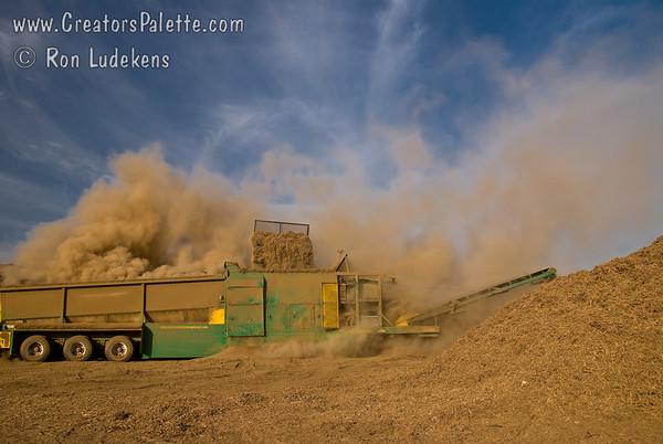 "Re-screening the Ground up ""Burn"" Pile - 9-11-2009"