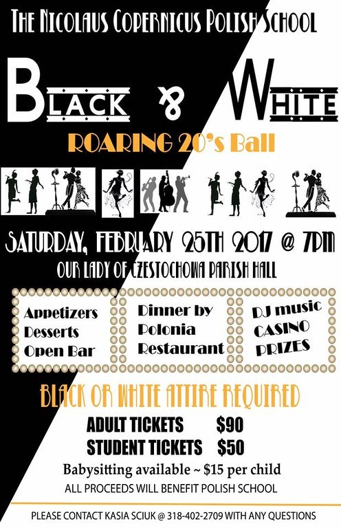 2017 Black And White Roaring 20′s Ball