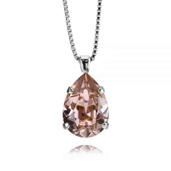 Mini Drop Necklace / Vintage Rose Rhodium