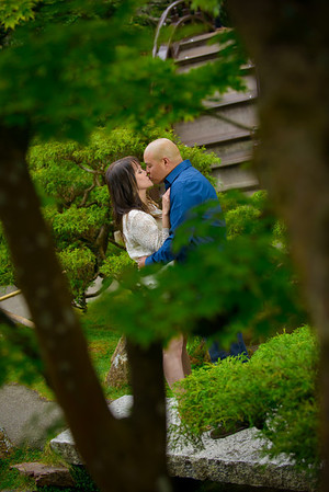 Jazmin and Juan - Engagement Photography, Japanese Tea Garden, Golden Gate Park, San Francisco, California