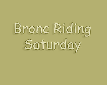 Bow Island 2018 Bronc Riding Saturday
