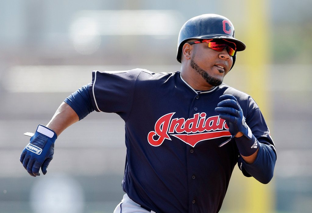 . 8. Designated hitter Edwin Encarnacion: April and May are typically slow months for the 35-year-old slugger from the Dominican Republic. Encarnacion heats up with the summer weather. He had 22 RBI by the end of May last year and ended up driving in 107 runs and clouting 38 homers � his sixth straight 30-home run season. Encarnacion isn�t just a free swinger. He walked a career high 104 times last season in his first year with the Tribe. He went hitless in the postseason, and like many of his teammates has something to prove if the Indians make it back to the playoffs. (AP Photo/Carlos Osorio)