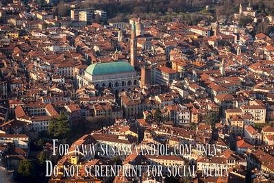 Vicenza, Cittadella, Bassano and Marostica from Above