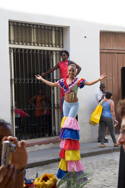 Entertainers near a plaza.