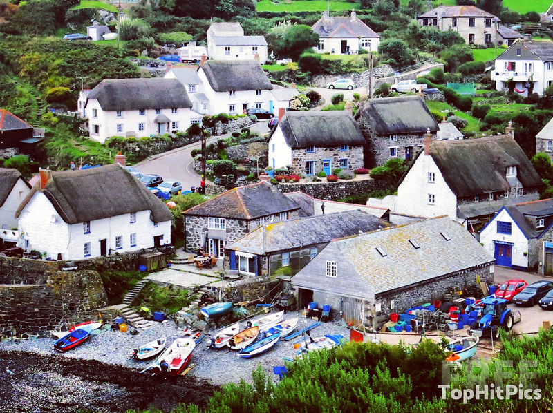 Cadgwith Cove in Cornwall, England