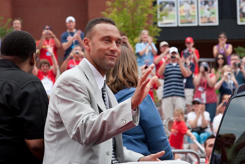 "Derek Jeter, Yankees, 2009 MLB All Star Game ""Red Carpet Show"", St. Louis, MO"