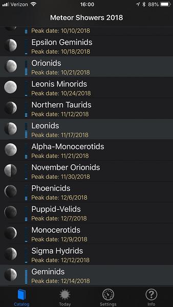 Meteor Shower Guide