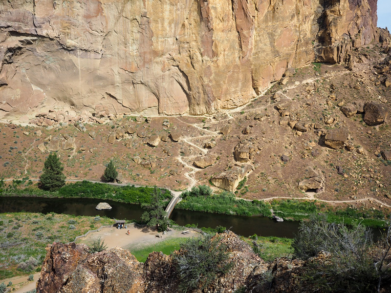 Beginning of the Misery Ridge Trail at Smith Rock State Park
