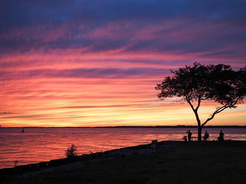 Sunset over Lake Erie in Sandusky