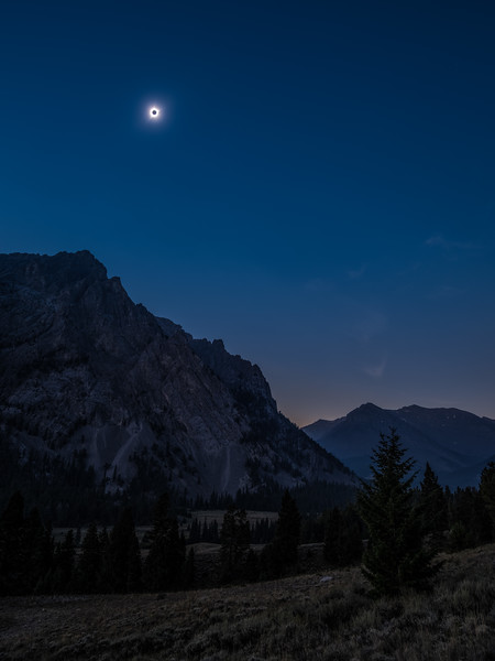 Solar Eclipse over the Lost River Range