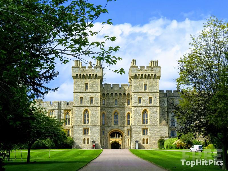 Windsor Castle On The Long Walk, Windsor, Berkshire, England