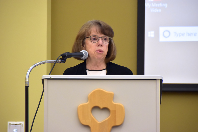Sr. Cathy Bertrand, SSND, was the assembly's moderator