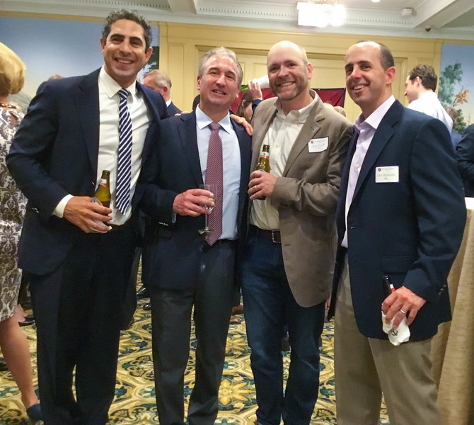 Peter Chelala '94, Jim Detora P'12, Chris Moeller '94, and John McAuliffe '95