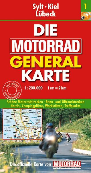 Die Motorrad General Karte - Germany