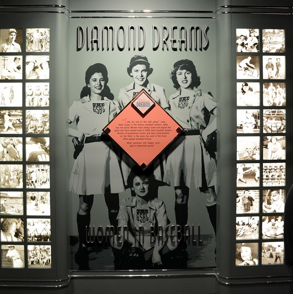 """""""Diamond Dreams"""" exhibit at  the National Baseball Hall of Fame & Museum"""