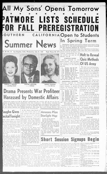 Summer News, Vol. 3, No. 13, July 21, 1948