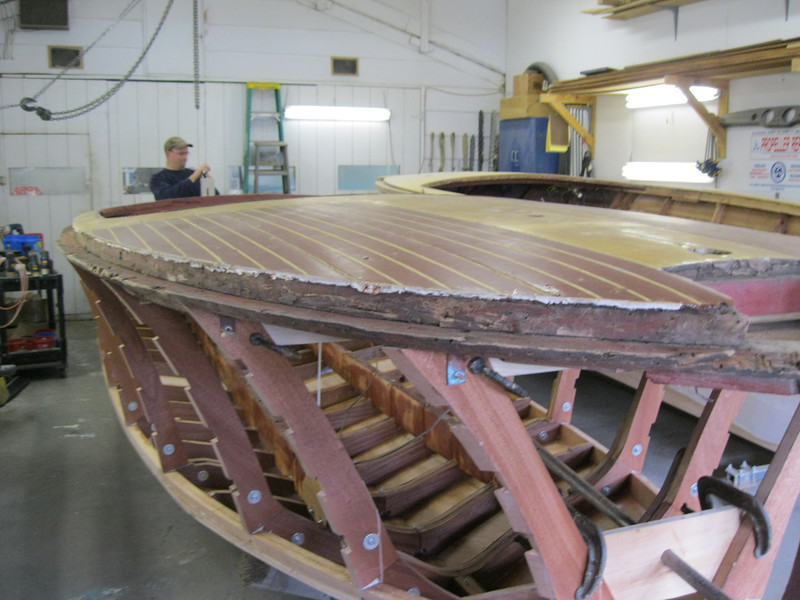 Front starboard view of shear plate.