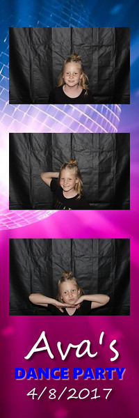 Ava's Dance Party Photo Strips - 4.2017
