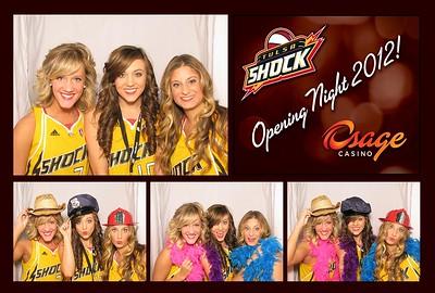 Tulsa Shock/Osage Casino Opening Night 2012