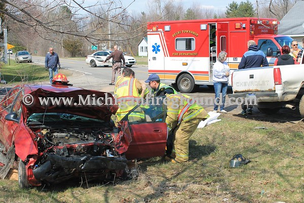 4/13/16 - Delhi Township motor vehicle crash, Eifert Rd & Nichols Rd