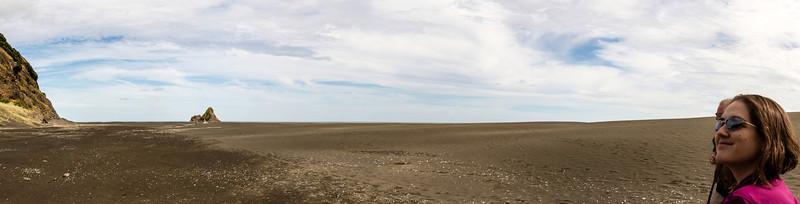 Felicity on Karekare Beach