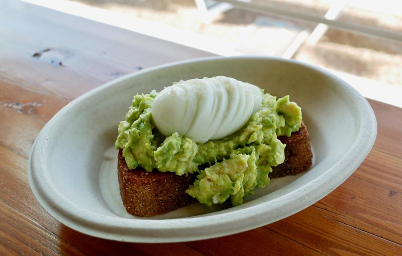 Avocado toast on Noble Bread