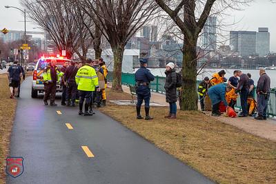 Water Rescue - Memorial Drive, Cambridge, MA - 2/13/20
