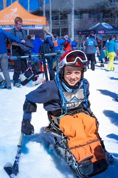 PARK CITY, UT - April 2, 2016:  National Ability Center Ability Snow Challenge (Photo by Jon Scarlet)
