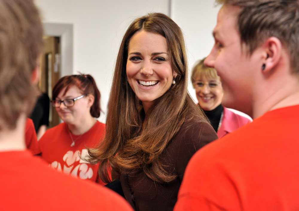 . Catherine, Duchess of Cambridge meets unemployed young people taking part in The Princes Trust Scheme as she visits Humberside Fire and Rescue Peaks Lane Fire Station on March 5, 2013 in Grimsby, England.  (Photo Bruce Adams  - WPA Pool/Getty Images)