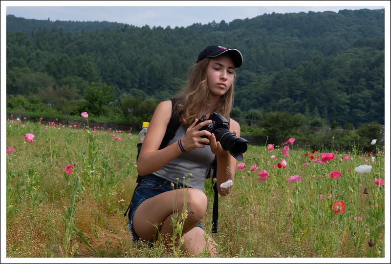 Frankie in the poppy fields