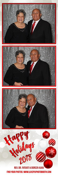 2018.12.07 Holiday Party 2018 Rev. Dr Fatuati & Doreen Auau
